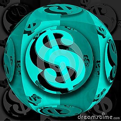 Blue Dollar ball