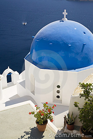 Blue Domed Church, Santorini