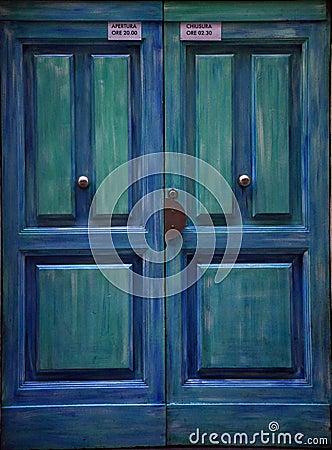 Free Blue Door In Italy  Stock Images - 13304574