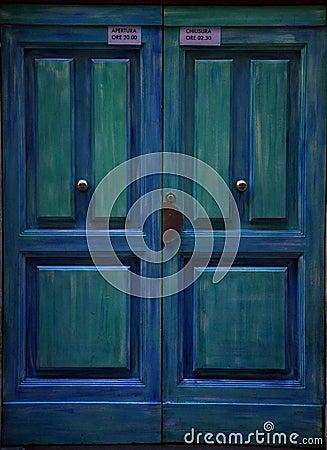 Free Blue Door In Italy  Stock Photography - 13374342