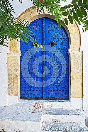 Free Blue Door In Tunis Stock Photos - 65561293