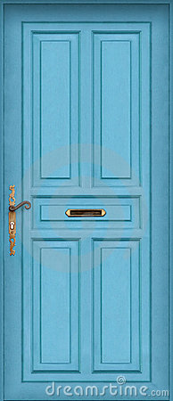 Blue door - with letter box