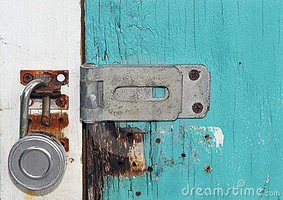 Blue Door Lock