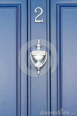 Free Blue Door - Number 2 Royalty Free Stock Photos - 52848908