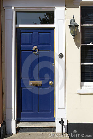 Blue doors, old victorian house