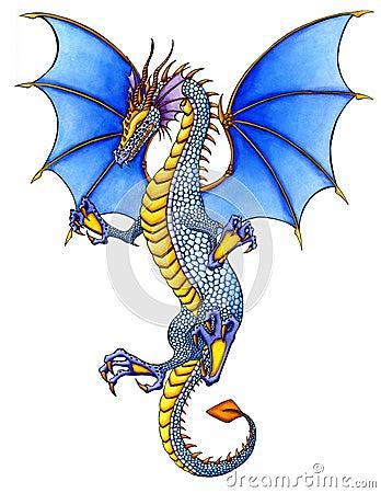 Free Blue Dragon Stock Photography - 4609442