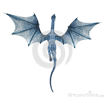 Free Blue Dragon Flying Royalty Free Stock Photography - 28695277
