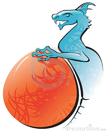 The Blue dragon and it s egg