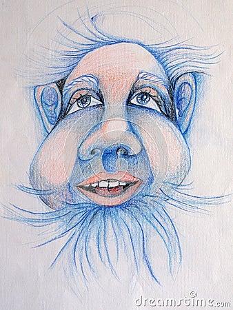 Blue dwarf portrait