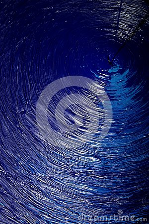 Blue dye swirling