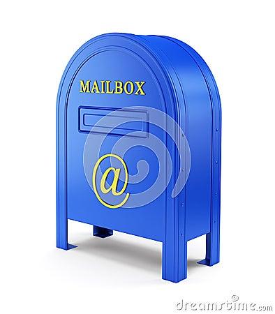 Blue e-mail postbox