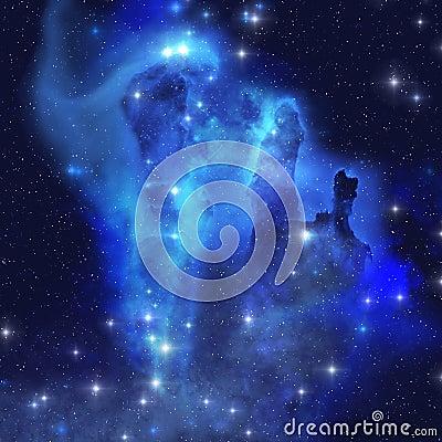 Free Blue Eagle Nebula Royalty Free Stock Photos - 17784428