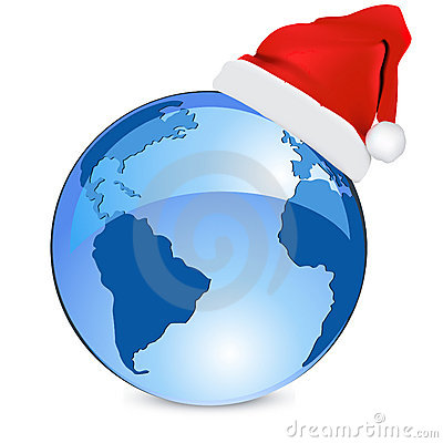 Blue earth christmas  concept
