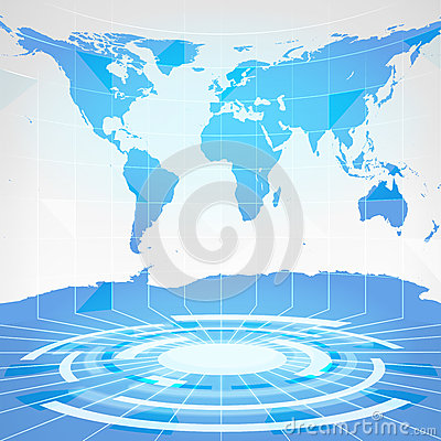 Free Blue Earth Map In Modern Studio Interior Abstract Scene Royalty Free Stock Images - 50966829