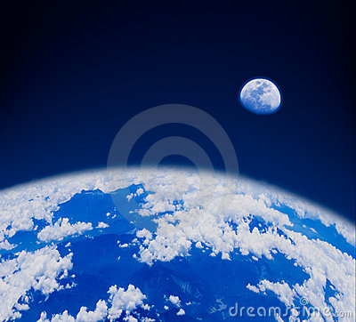 Blue earth in space