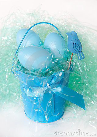 Free Blue Easter Eggs Stock Image - 18928381