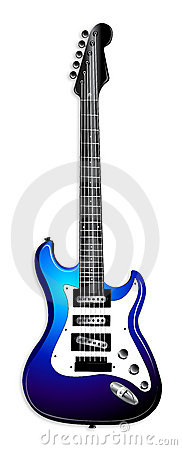 Blue Electric Guitar Illustration