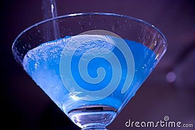 Blue Electric Martini