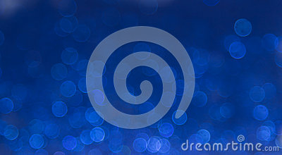 Blue elegant abstract bokeh background Stock Photo