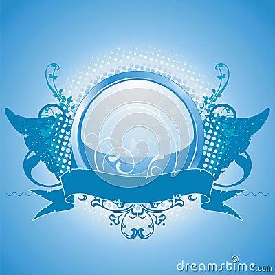 Blue emblem, design element