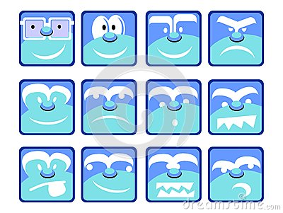 Blue Emotion Icons