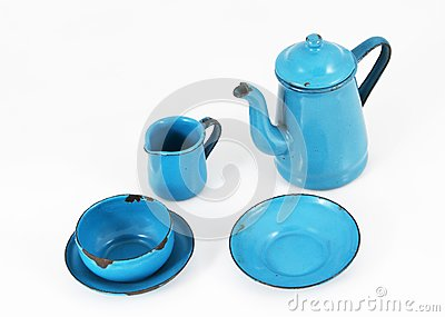 Blue Enamel Kitchenware