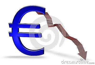 Blue euro falling
