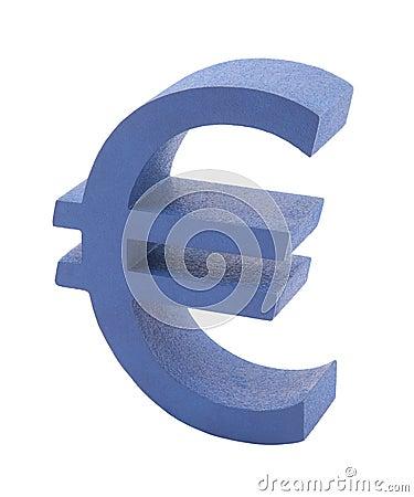 Blue euro symbol