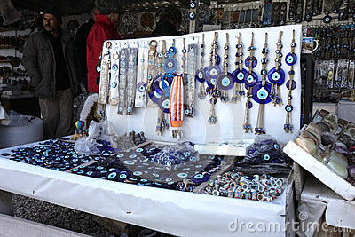 Blue Evil Eye Charms Editorial Stock Image