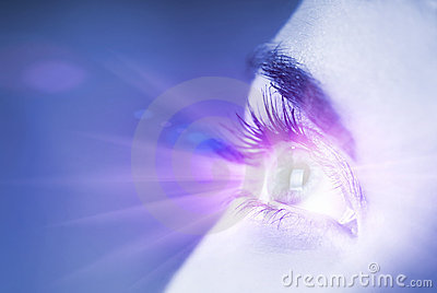 Blue eye with glow effect
