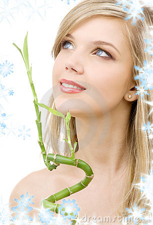 Free Blue-eyed Blonde With Bamboo Royalty Free Stock Photo - 6773015