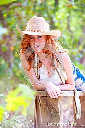 Blue eyed cowgirl