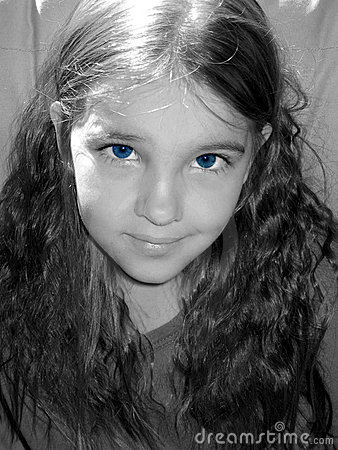 Blue-eyed girl.