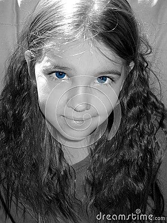 Blue-eyed girl.