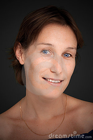 Blue eyed lady portrait