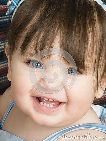 Blue eyed toddler
