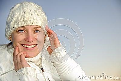 Blue-eyed woman