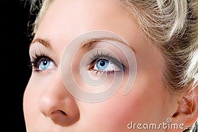 Blue eyes caucasian girl