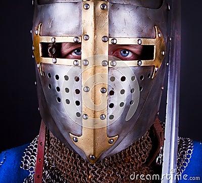 Blue eyes of knight