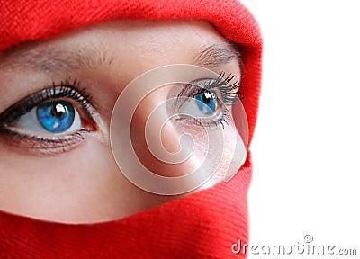 Blue eyes ninja woman