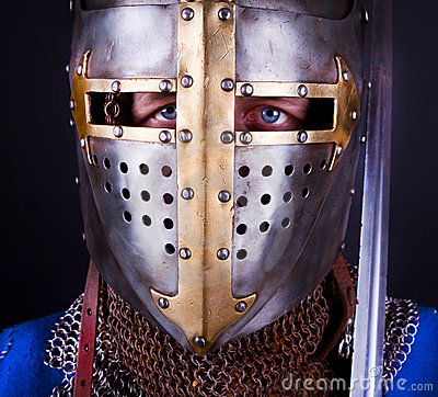 Free Blue Eyes Of Knight Stock Image - 13450801