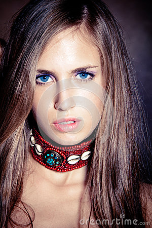 Blue eyes young woman