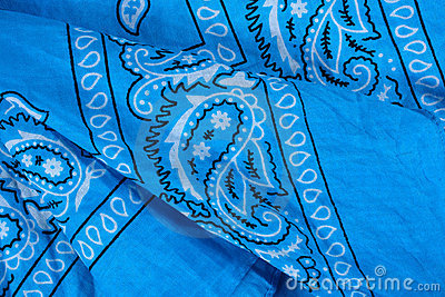 Blue fabric, bandana