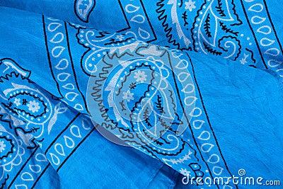 Blue fabric, bandana