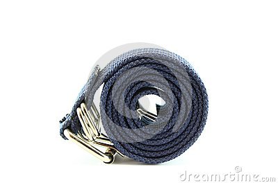 Blue fabric belt
