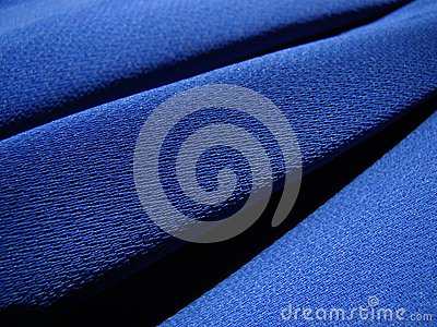 Blue fabric crepe