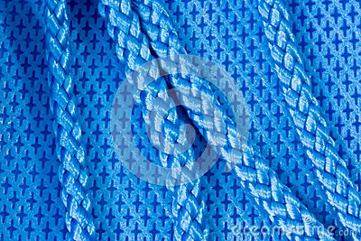 Blue fabric and rope