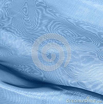 Blue fabrics with moiré
