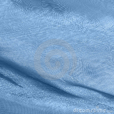 Blue fabrics with moire