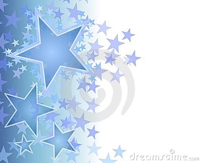 Blue Fading Stars Background